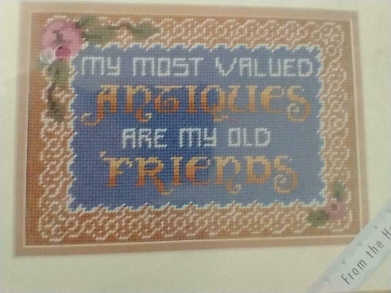 "Primary image for NEW BUCILLA XPRESSIONS NEEDLEPOINT KIT #4796 MY FRIENDS,9X6"",FRAME OR PILLOW,FUN"