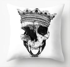 "Werewolf QUEEN Skull in Crown 18"" X 18"" Throw Pillow CASE Halloween HORR... - $12.99"