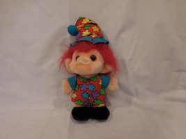 "Troll Plush with Hat Colorful Outfit original Trolio 10"" Plush Troll  19... - $10.90"