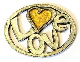 LOVE Fine Pewter Pendant Approx. 1-1/2 inches wide image 6