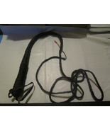 Black Bullwhip About 8 Feet Long Prop - $14.69