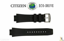 Citizen 59-S52077 22mm Original Caoutchouc Noir Bracelet de Montre AT2025-02E - $72.29