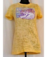 Next Level Apparel Womens Yellow Fort Lauderdale  Graphic V Neck T-Shirt L - $9.67