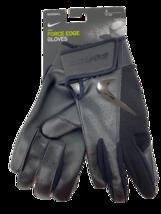 Nike Force Edge Baseball Batting Gloves Adult Small 84740 BLACK/BLACK Unisex - $24.99