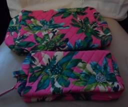 Vera Bradley set of medium & large cosmetics in Tropical Paradise - $50.00