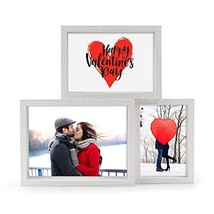 Afuly Three Picture Frames 4x6 5x7 and 6x8 White Photo Frame for Gallery... - £24.34 GBP
