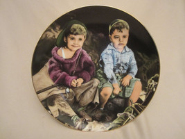 ROUGHIN' IT collector plate THE LITTLE RASCALS Rare only 10 firing days ... - $47.41