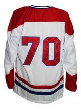 Any Name Number Nova Scotia Voyageurs Retro Hockey Jersey New White Any Size image 5