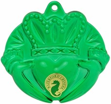 Waterford 2014 Crystal Green Claddagh with ornament enhancer # 164596 New  - $75.74
