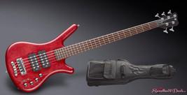 Warwick WGPS Corvette $$ 5 String Burgundy Red Satin Fretted Bass - $2,299.99