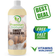 SWEET ALMOND OIL 100% Natural Pure for Skin & Hair Moisturizer Massage 3... - $34.10