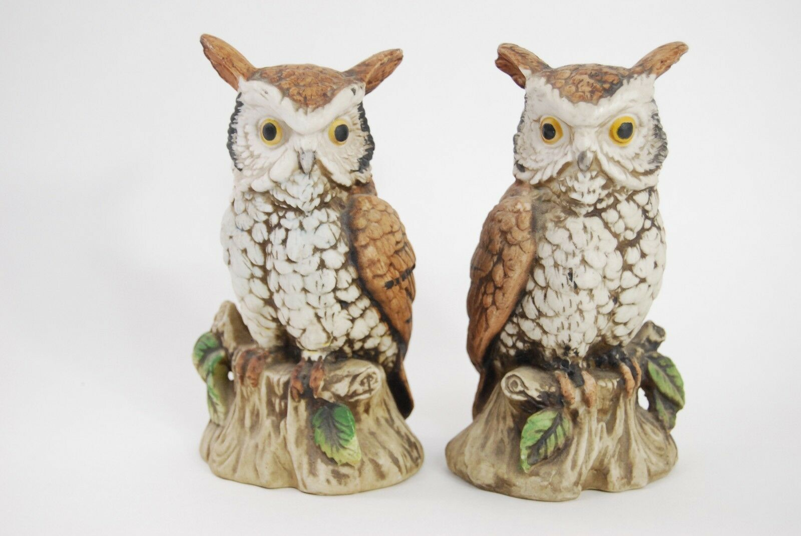 Primary image for Porcelain Owl Figurines - ARDCO C-3213 - Made in Taiwan - Set of 2