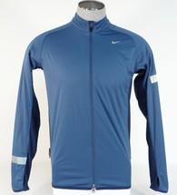 Nike Dri Fit Wind & Water Resistant Blue Zip Front Running Jacket Mens NWT - $112.49
