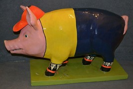"Large 22"" Pig Sculpture Statue Hand Painted Art Opportunities 2000 - $45.00"