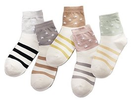 Five Pairs Of Women Fall And Winter Warm Socks, Stars And Stripes - €18,55 EUR