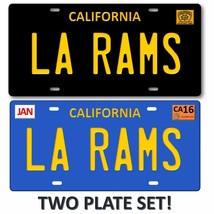 LA RAMS Los Angeles California 2 LOT SET NFL Football Team License Plate... - $19.79