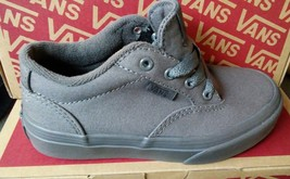 NEW VANS Winston Youth Size PEWTER/PEWTER Gray Grey Free Shipping - NEW - $39.99