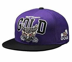 Gold M.V.P. Heavyweight Beebull Purple Black Starter Snapback Baseball Cap Hat