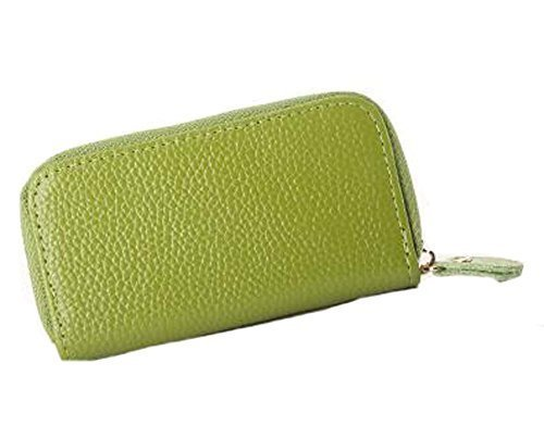 Multifunctional Key Bag Printing High Capacity Straight Zipper Key Case, Green