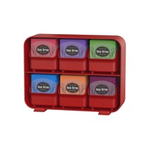 Tea Bag Storage Box Display Organizer Condiment Chest Holder Compartment... - £20.62 GBP