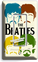 The Beatles Pop Art John George Paul Ringo Single Gfci Light Switch Cover Decor - $8.09