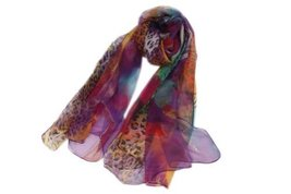 Charming Woman and Girl Leopard Patterned Soft Long Infinity Multicoloured Scarf