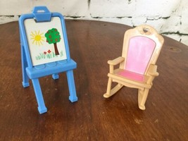 Vintage Fisher Price Rocking Chair Art Easel Childs Room - $11.88
