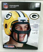 Greenbay Packers Fanheads Wearable Nfl Adjustable Helmet Cheese Head Costume - $7.42
