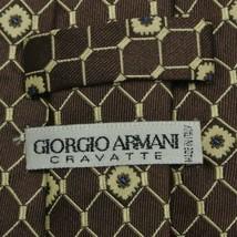 Brown Beige Foulard Armani Silk Tie - $14.99
