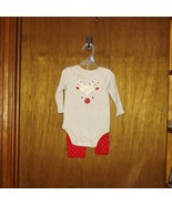 Holiday Time 2 Pc Bodysuit Reindeer Set - New - 3/6 mths - $12.99