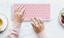 inote Korean English Bluetooth Slim Keyboard Wireless Compact Mini (Pink) image 2