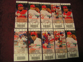 MLB Philadelphia Phillies And Boston Red Sox Tickets Lot Of 20 X .99 Cents! - $18.37