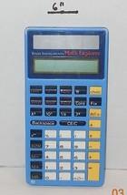Vintage School Room TI Texas Instruments Solar Calculator Blue Math Expl... - €12,51 EUR
