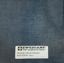 Interlock Needlepoint Canvas 18 Count Navy Custom Cuts Available  Blank Canvas  - $7.13+