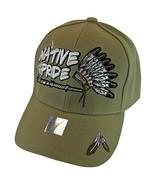 Native Pride Headdress Peace Pipe Men's Adjustable Baseball Cap (Khaki) - $12.95