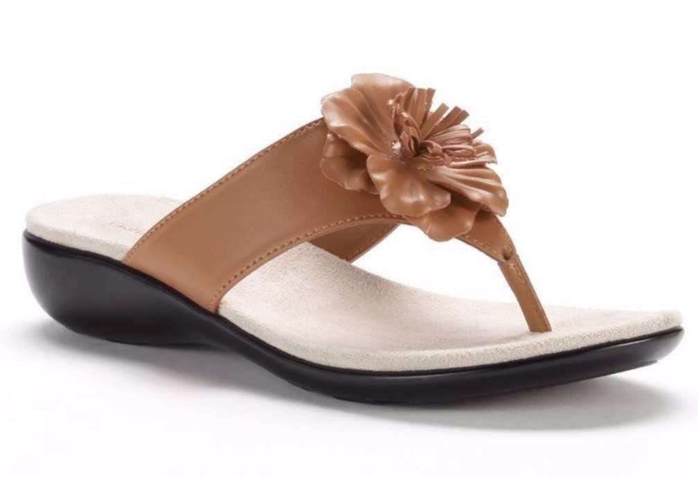 d526194d428 Flower Power Sandal Ginny Tan Flip Flops Thongs Croft   Barrow  45 Size8  Womens -  24.72