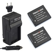 Newmowa NB-8L Replacement Battery (2-Pack) and Charger Kit for Canon NB-8L,CB-2L - $31.99