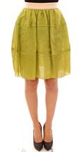 Dolce & Gabbana Green Silk Above Knees Full Skirt - $595.74