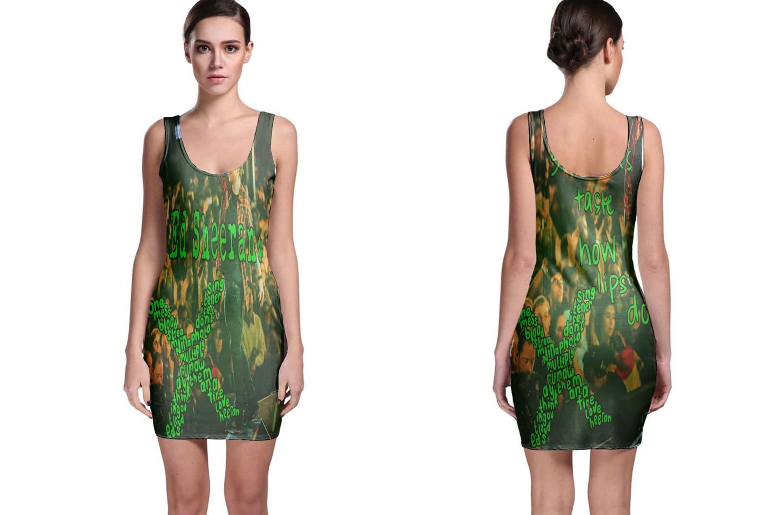 Bodycon dress green ed sharen