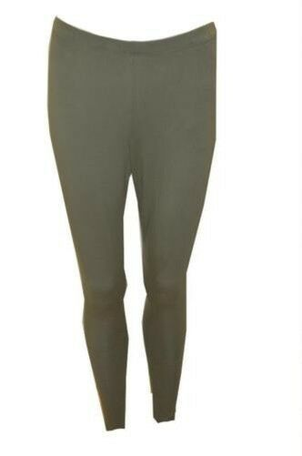 Primary image for Plus Size Curve Womens Full Length Stretch Mid Rise Leggings - Green