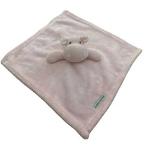 """Blankets & Beyond Pink Hippo Plush Lovey Baby Blanket Security 13"""" x 13""""... - $13.96"""