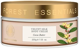Forest Essentials Velvet Silk Cocoa Butter Body Cream 200gms Free Shipping - $55.07