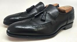 Salvatore Ferragamo Men's Black Leather Wingtip Tassel Loafers Size 8.5 2E - $113.85
