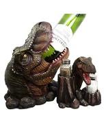 Atlantic Collectibles Prehistoric Dinosaur T-Rex Head Wine Bottle and Sa... - $44.50