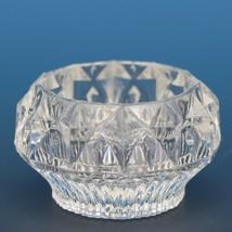 Antique EAPG Pressed Glass Open Salt Ribbed Windsor Diamond