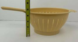 Vintage Sarvis Plastic Colander Strainer Made In Finland Tan Beige - $19.75