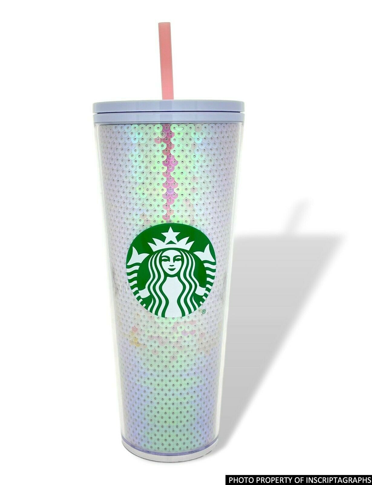 Starbucks Holiday Tumbler Purple Grid Disco Christmas 2020 Cold Cup