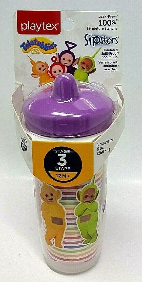 Primary image for NWT Playtex Sipsters Stage 3 Teletubbies Insulated Spout Cup 9 Oz BPA FREE