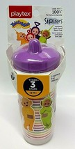 NWT Playtex Sipsters Stage 3 Teletubbies Insulated Spout Cup 9 Oz BPA FREE - $11.87