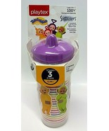 NWT Playtex Sipsters Stage 3 Teletubbies Insulated Spout Cup 9 Oz BPA FREE - $11.86